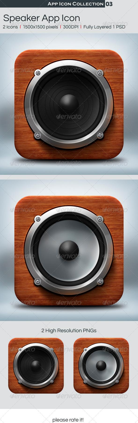 GraphicRiver Speaker App Icon 4563744