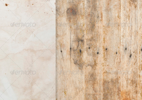 Old paper with wood background - Stock Photo - Images