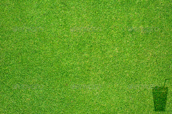 Drink icon on green grass texture and background - Stock Photo - Images