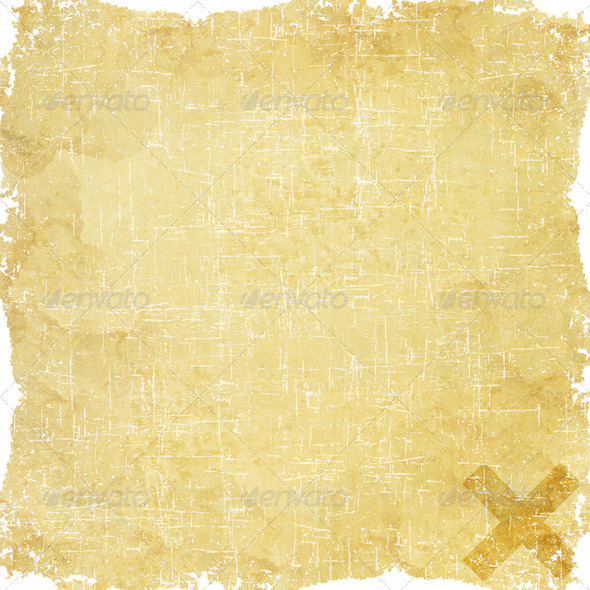 Label letter icon on old paper background - Stock Photo - Images