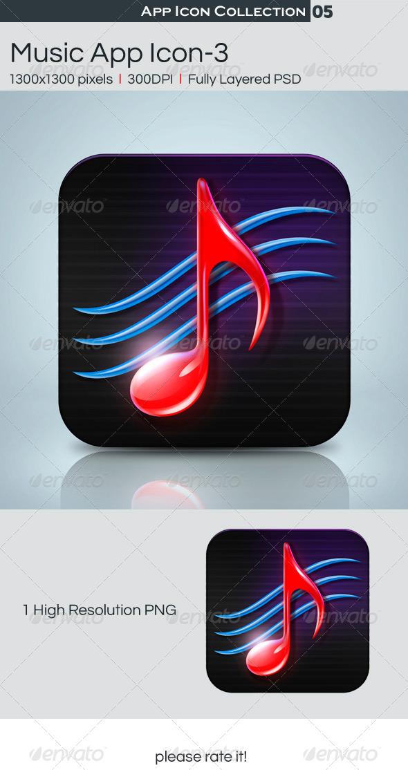 GraphicRiver Music App Icon-3 4564115