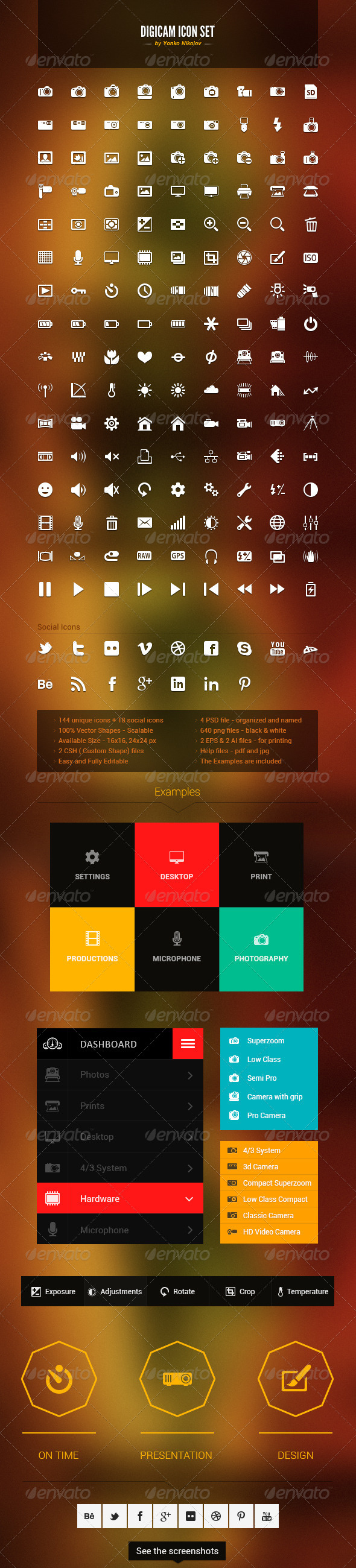 Digicam Vector Icon Set - Icons