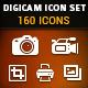 Digicam Vector Icon Set - GraphicRiver Item for Sale