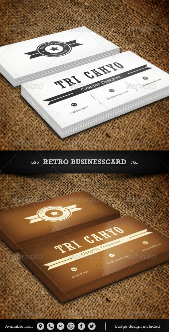 GraphicRiver Retro Business Card 4564384