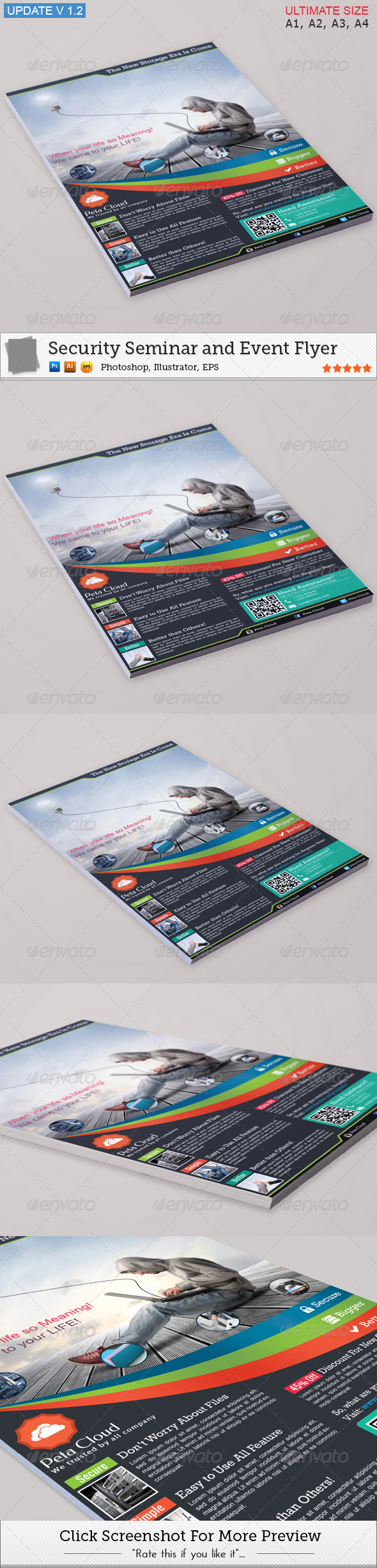 GraphicRiver Peta Cloud Service Flyer 4483696