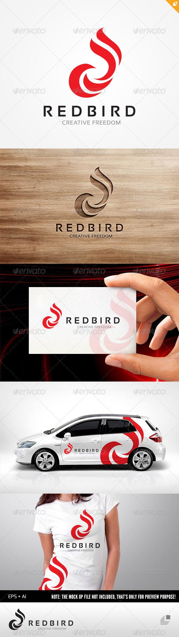 GraphicRiver Red Bird Logo 4564388