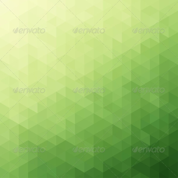 GraphicRiver Abstract Green Triangle Background 4564389