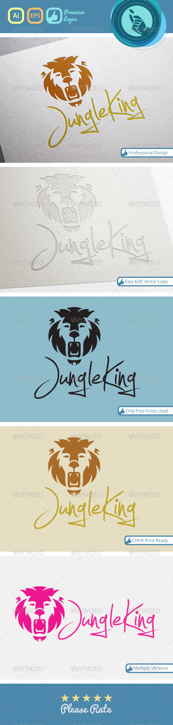 GraphicRiver Jungle king logo 4534766