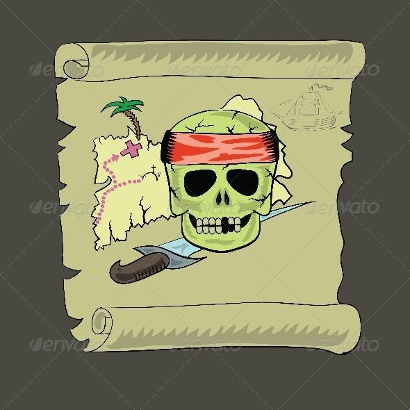 GraphicRiver Pirate Map 4565465