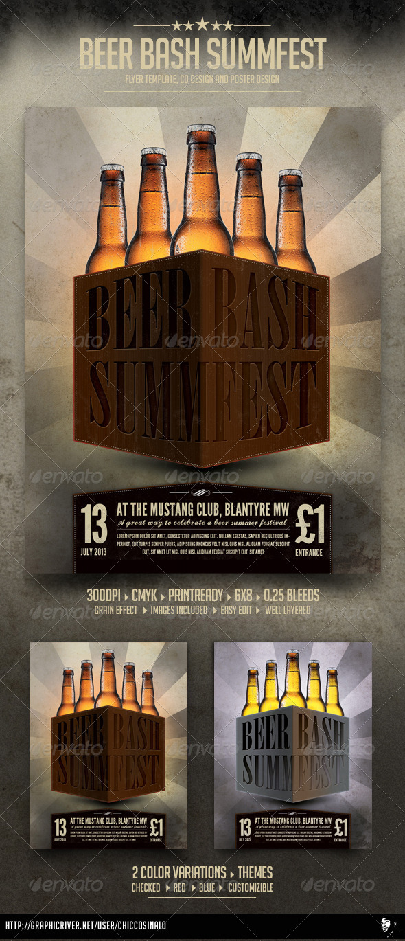 GraphicRiver Beer Bash Flyer Template 4565516