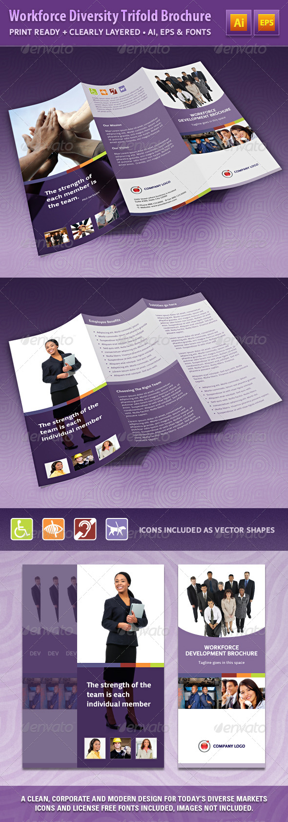 GraphicRiver Workforce Diversity Trifold Brochure 4565575
