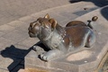 Bronze lion statue near the fountain in Jerusalem, Israel - PhotoDune Item for Sale