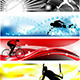 Set of Sports Banner in Five Brilliant Colors - GraphicRiver Item for Sale