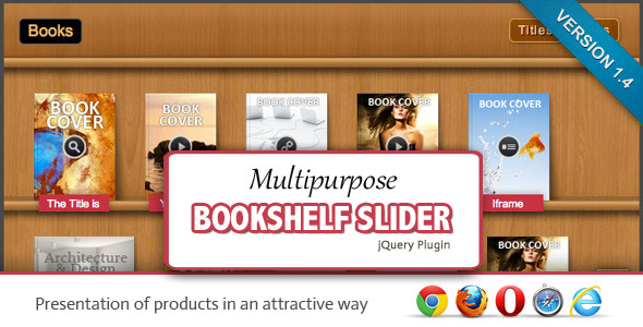 Multipurpose Bookshelf Slider - jQuery Plugin - CodeCanyon Item for Sale