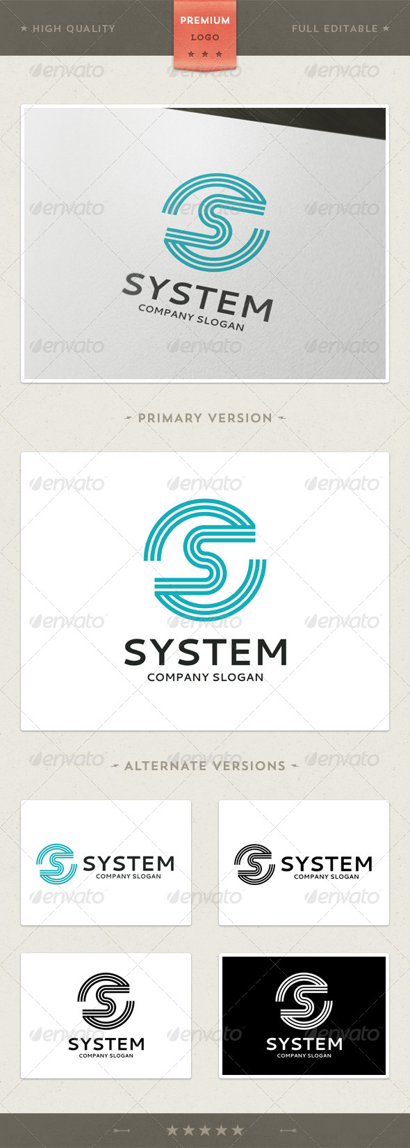 GraphicRiver S Letter Logo Template 3787754