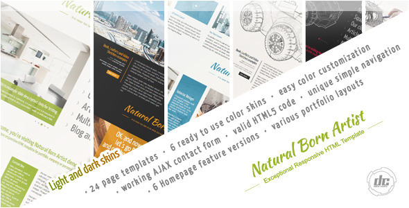 ThemeForest Natural Born Artist Exceptional HTML Template 4565999