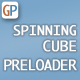 Spinning Cube Preloader with Percentage Loaded Indication - ActiveDen Item for Sale