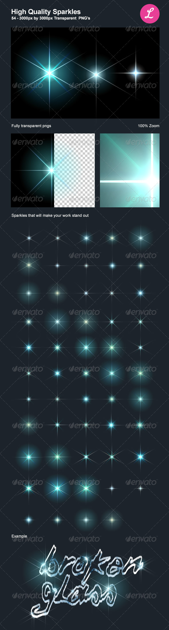 GraphicRiver High Quality Sparkles 4566079