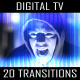 Digital TV Transitions (20-Pack) - VideoHive Item for Sale