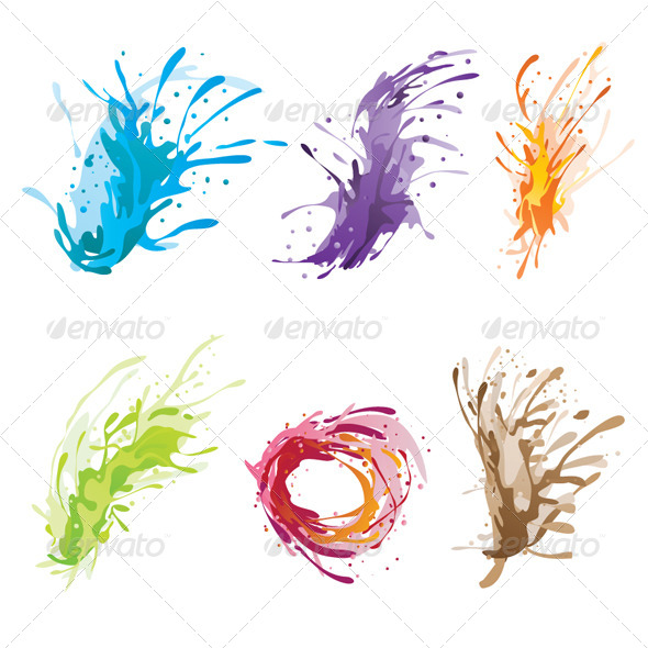 GraphicRiver Ink Color Brush 4566083