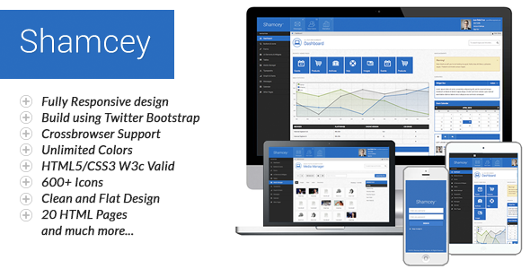 ThemeForest Shamcey Metro Style Admin Template 4566092