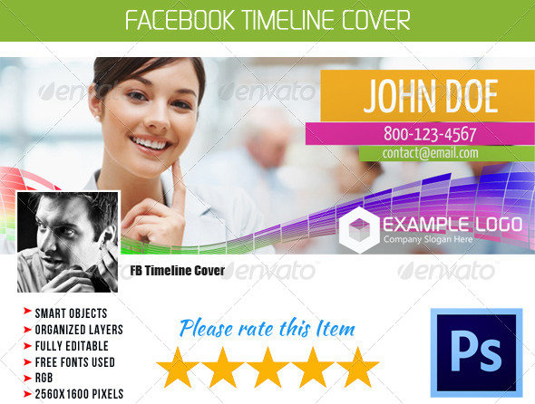 GraphicRiver FB Timeline Cover 006 4566430