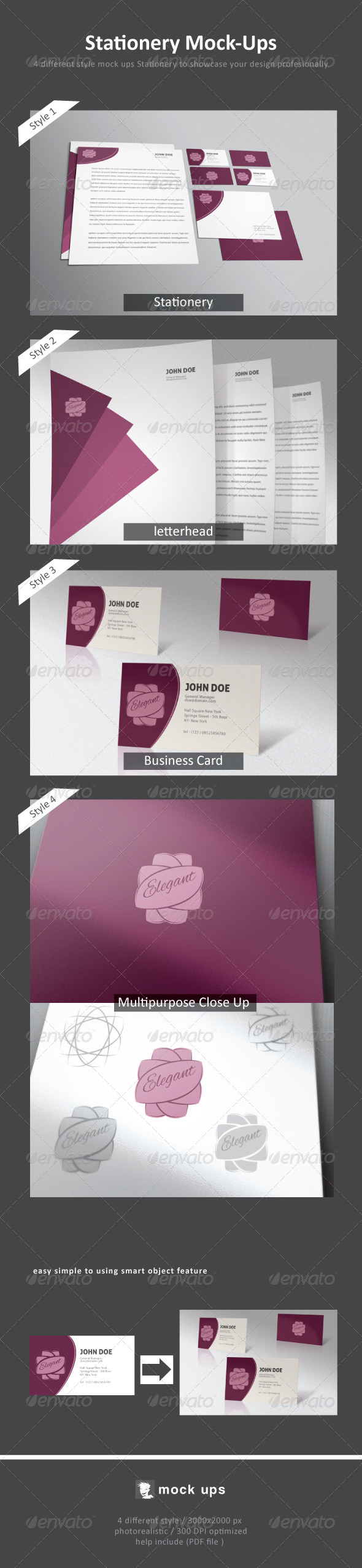 GraphicRiver Stationery Mock-Up 4566482