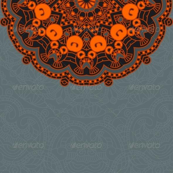 GraphicRiver Vector Round Decorative Design Ornament 4566485
