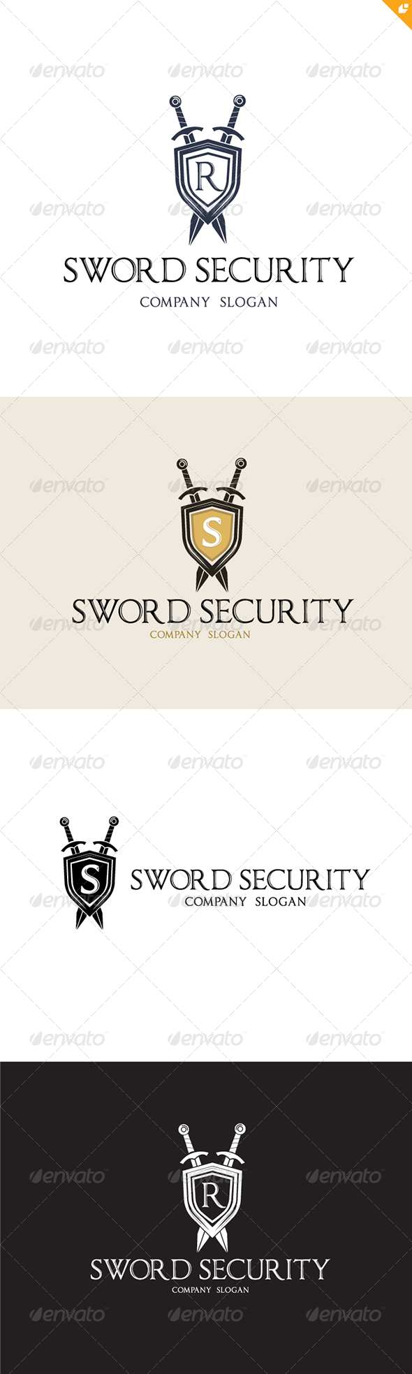GraphicRiver Sword Security Logo 4566625