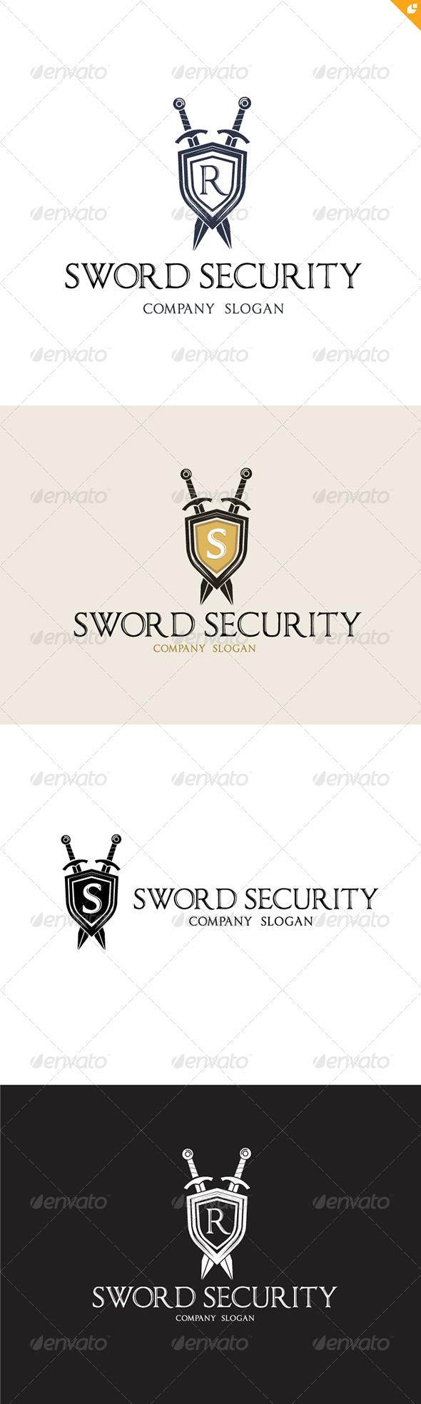 GraphicRiver Sword Security Logo 4566625
