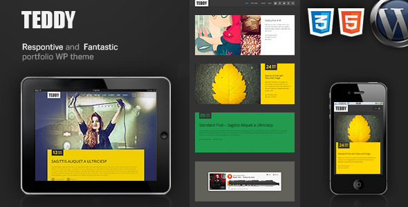 Teddy-Responsive Blog Magazine Portfolio WP Theme