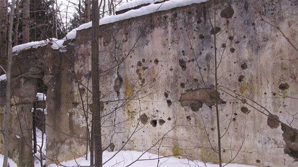 Shot Wall From World War 2