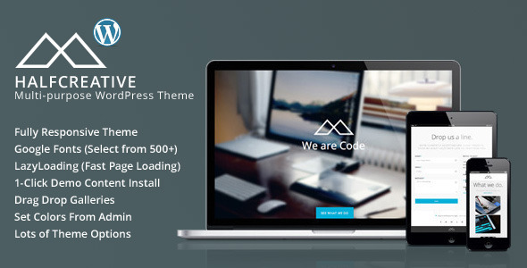 HalfCreative - One Page Portfolio WordPress Theme