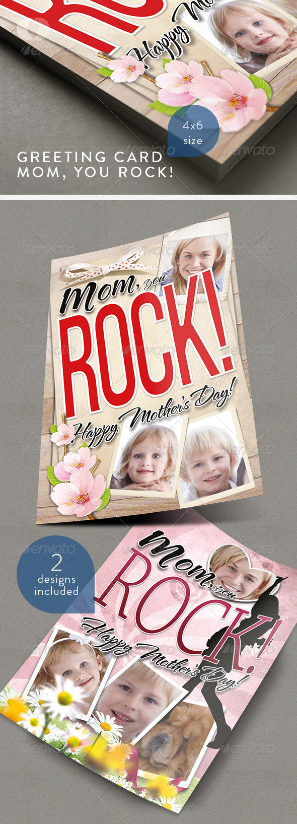 Greeting Card - Mom you Rock! - Clubs & Parties Events