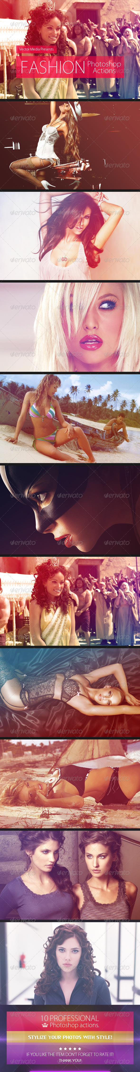 GraphicRiver Fashion Photoshop Actions 4566993