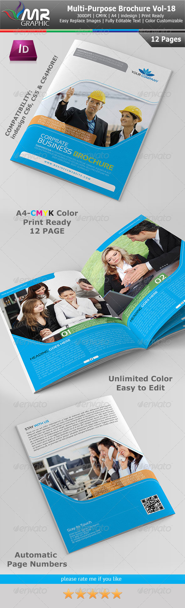 Multipurpose Business Brochure Template Vol-18 - Corporate Brochures