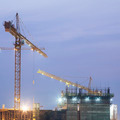 Construction site building on twilight time - PhotoDune Item for Sale