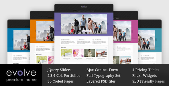 Evolve - Responsive Multipurpose HTML theme - Creative Site Templates