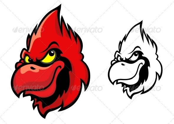 Red Cardinal Bird - Animals Characters