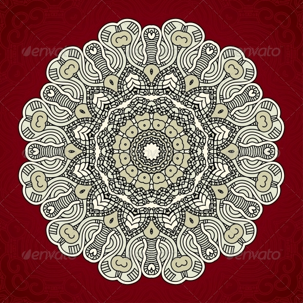 GraphicRiver Vector Round Decorative Design Element 4567436