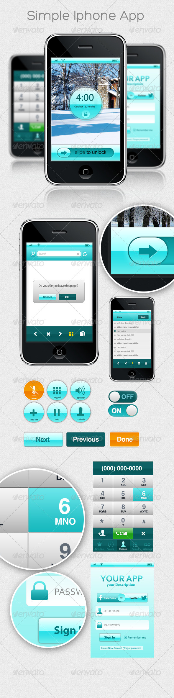 GraphicRiver Simple Iphone App 4523516