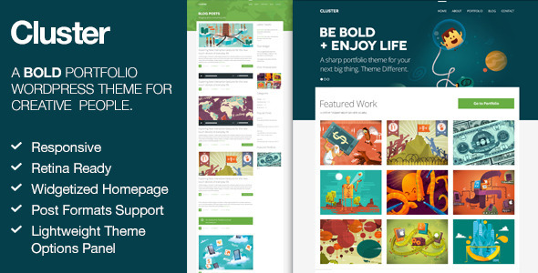ThemeForest Cluster A Bold Portfolio Wordpress Theme 4567609