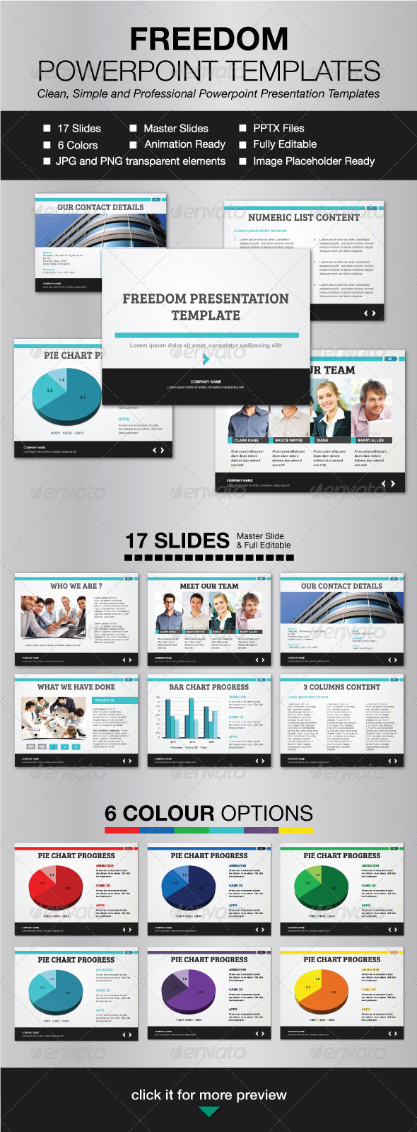 Freedom Powerpoint Template - Presentation Templates