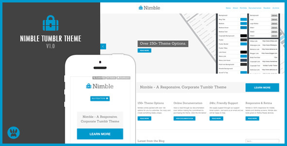 ThemeForest Nimble A Responsive Business Tumblr Theme 4568030