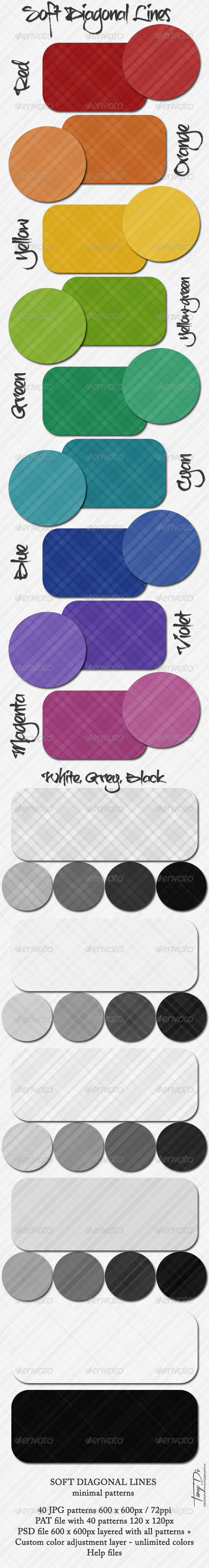 GraphicRiver Soft Diagonal Lines Patterns 4568326