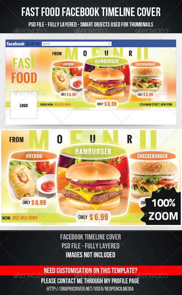 GraphicRiver Fast Food Facebook Timeline Cover 4568481
