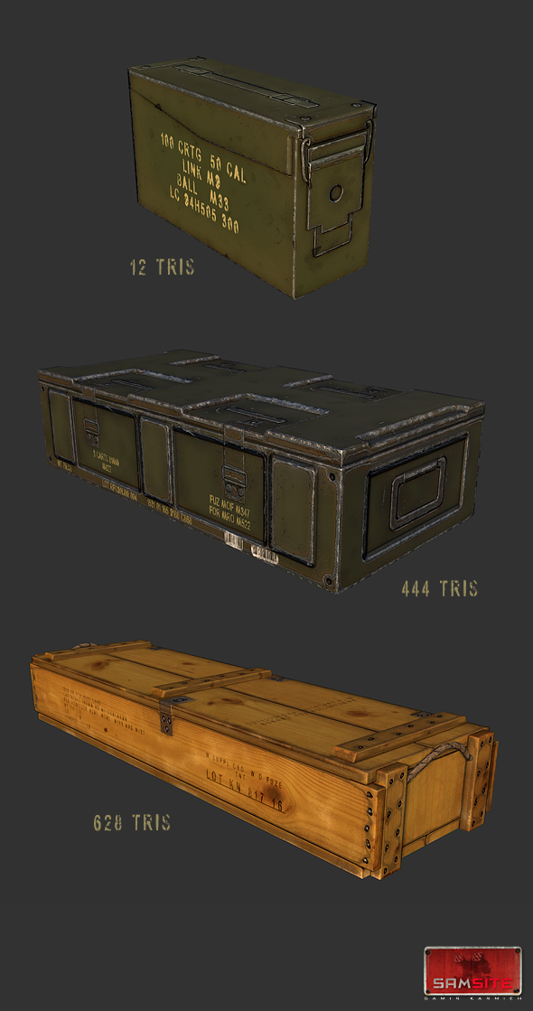 3DOcean Ammo Box Pack 4568624