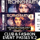 Club, Fashion & Event Multipurpose Tickets V.2 - GraphicRiver Item for Sale
