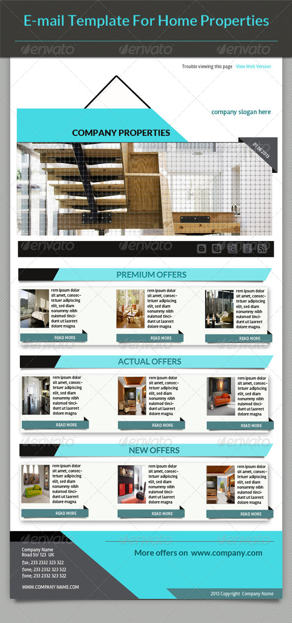 GraphicRiver E-mail Template Home Properties 4511599