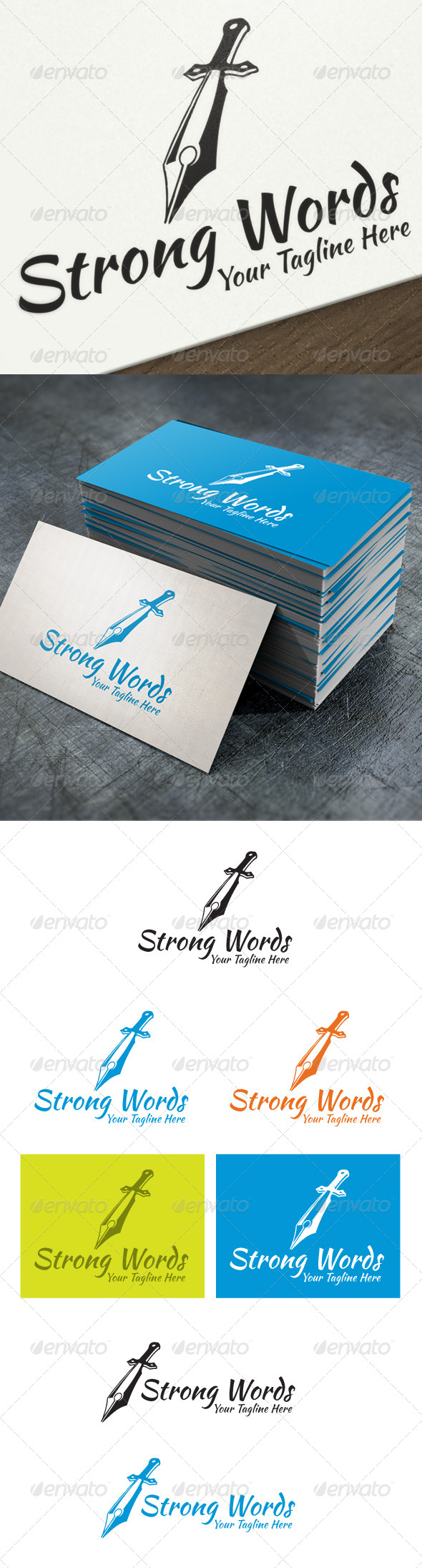 GraphicRiver Strong Words 4570036